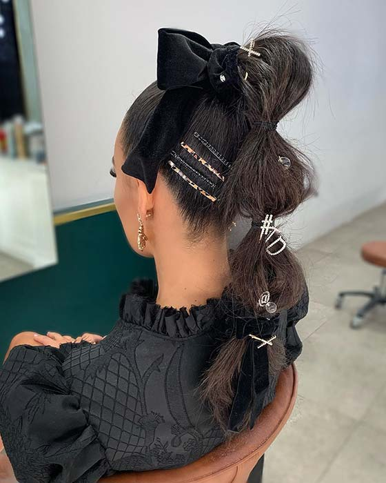 Accessorized Ponytail Hair Idea