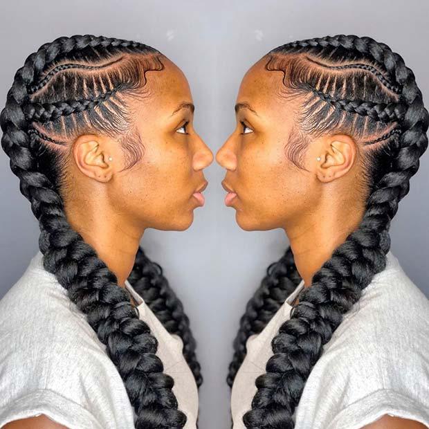 2 Braids with a Wavy Braided Pattern