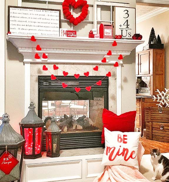 Bold Room Decor with Hearts