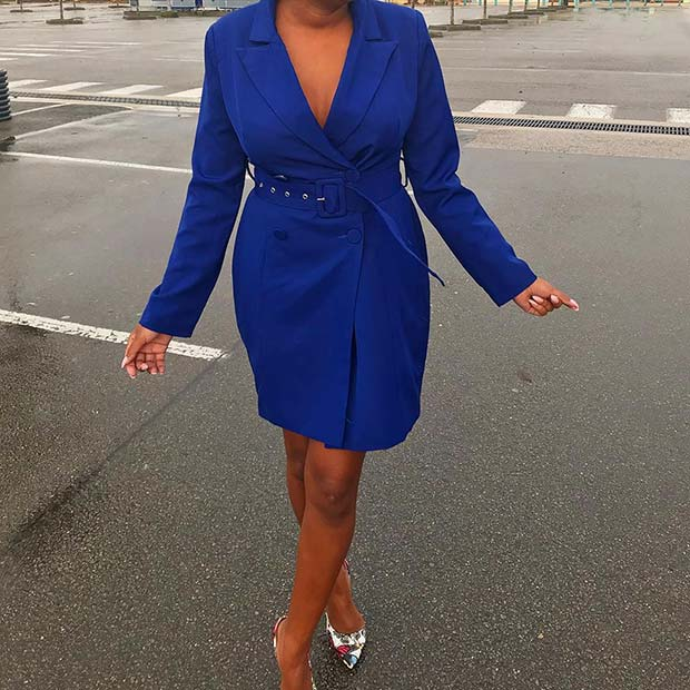 Bold Tailored Dress Outfit
