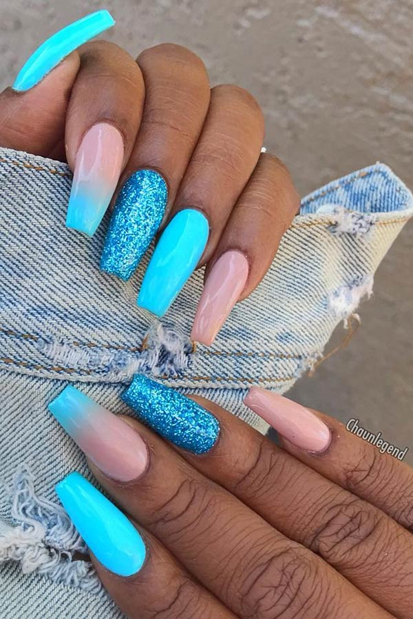 23 Blue Ombre Nails And Ideas We Re Trying Asap Page 2 Of 2 Stayglam