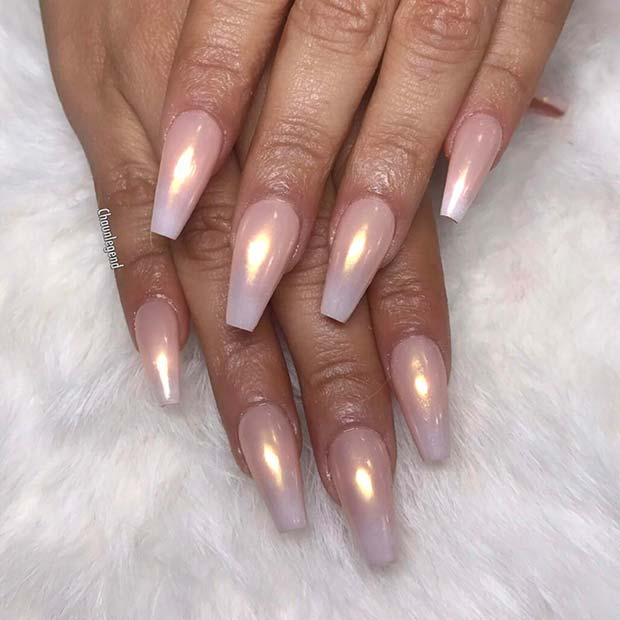 Chic Nail Design With a Pearl Effect