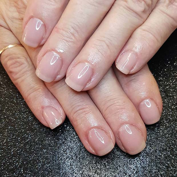 Classic Mani With Nude Tips