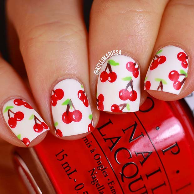 Cute Cherry Nails