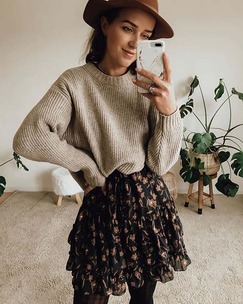 Cute Skirt and Sweater