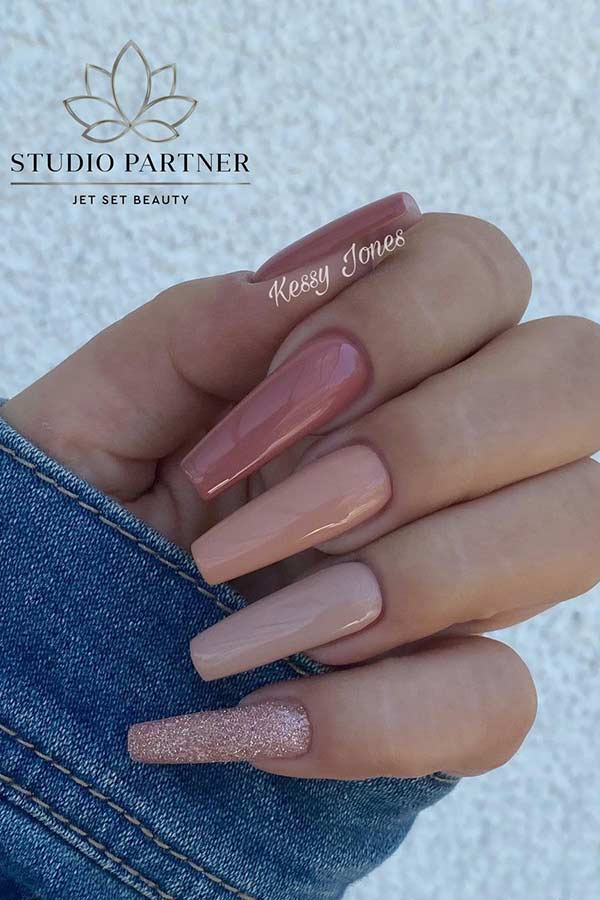 Different Shades of Nude Nails