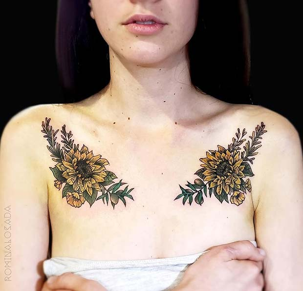 Double Sunflower Tattoos