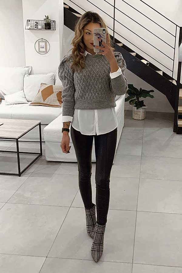 Edgy and Smart Outfit Idea