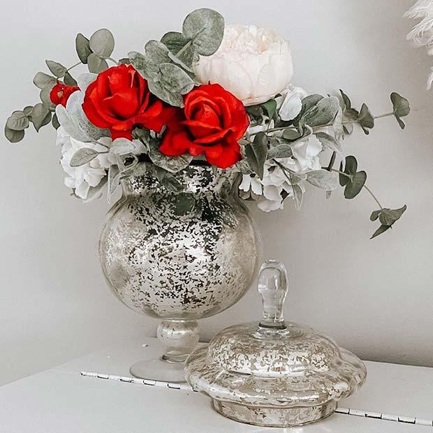 Glam Flower Vase Decor Idea