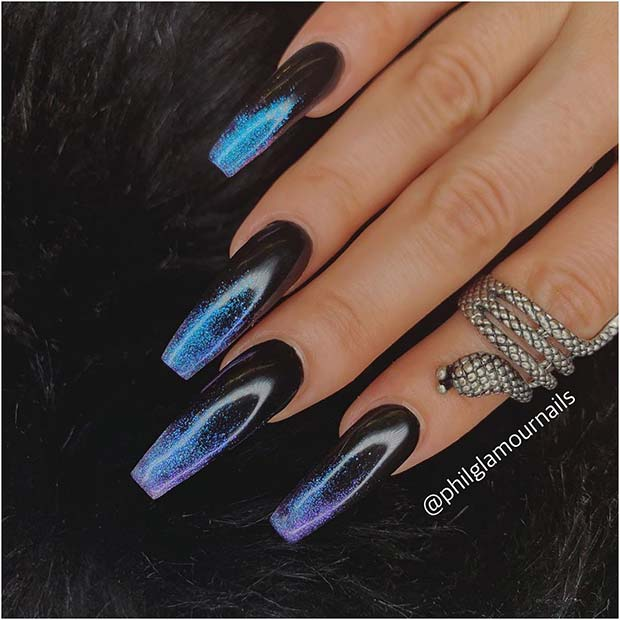 Gorgeous Blue and Black Ombre