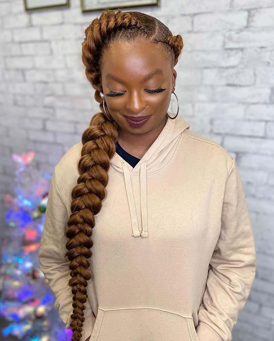 Gorgeous Caramel Braided Hairstyle