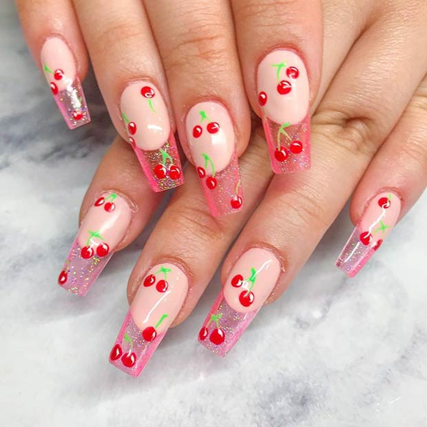 Jelly Nails with Cherries
