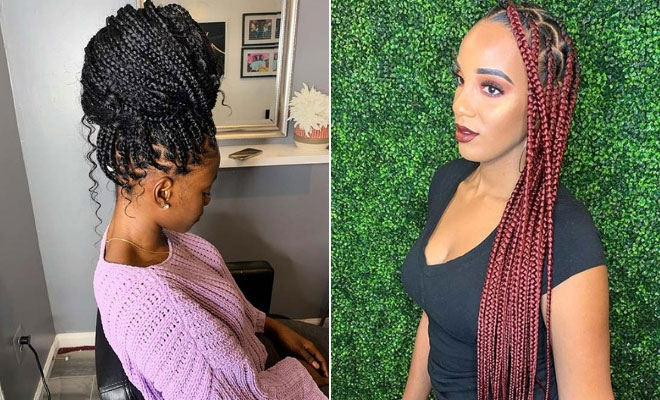 23 Ways To Wear And Style Knotless Braids Page 2 Of 2