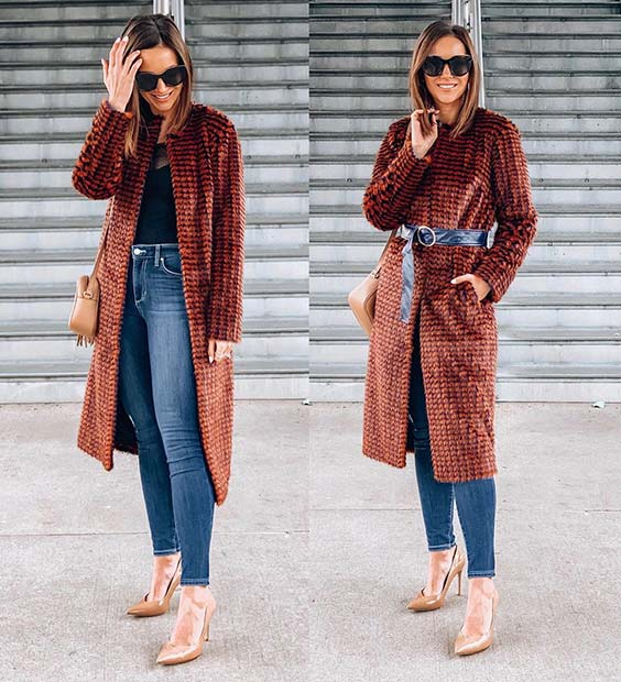 Long Coat with Jeans