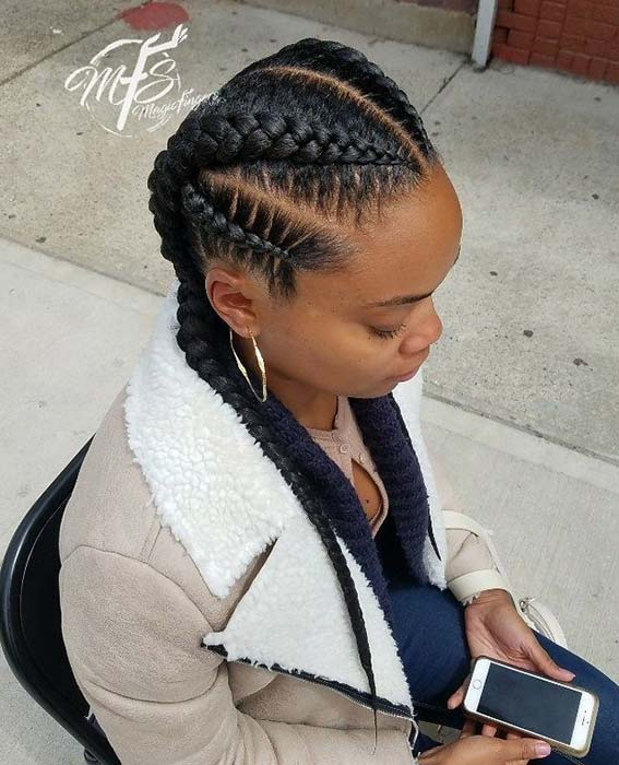Multi Braid Hairstyle
