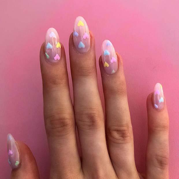 Cute Pastel Valentine's Nails