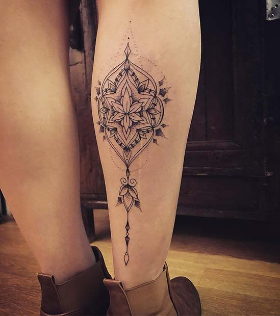 Patterned Tattoo on the Calf