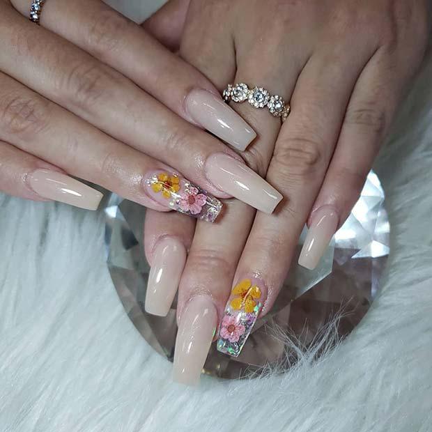 Pretty Floral Nails