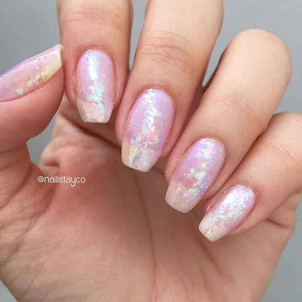 Shimmery Nail Design