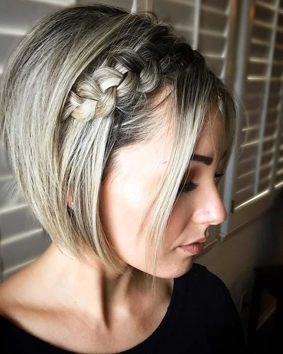 Short Cut with a Side Braid
