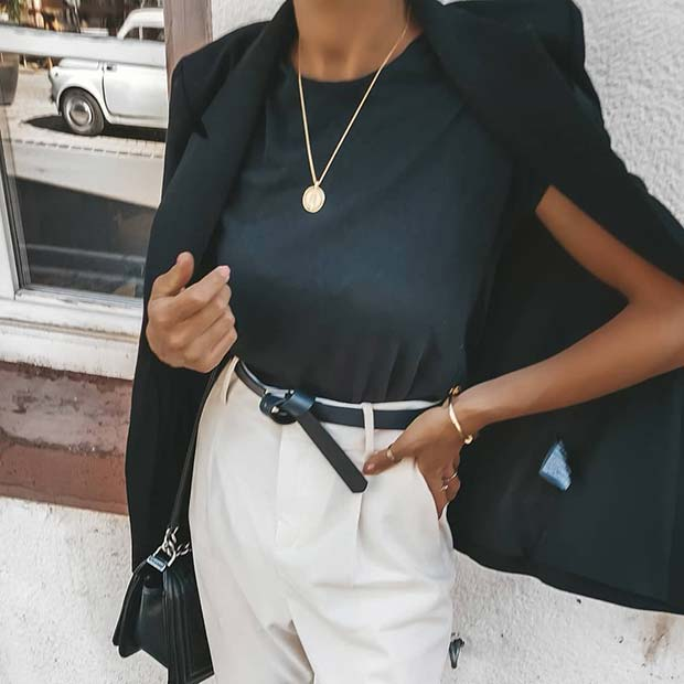 Stylish Black and White Outfit