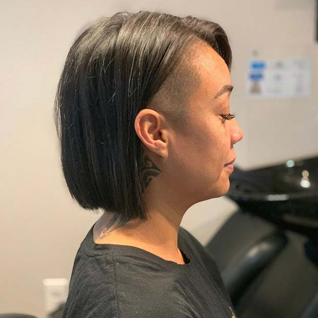 Trendsetting Hairstyle with an Undercut