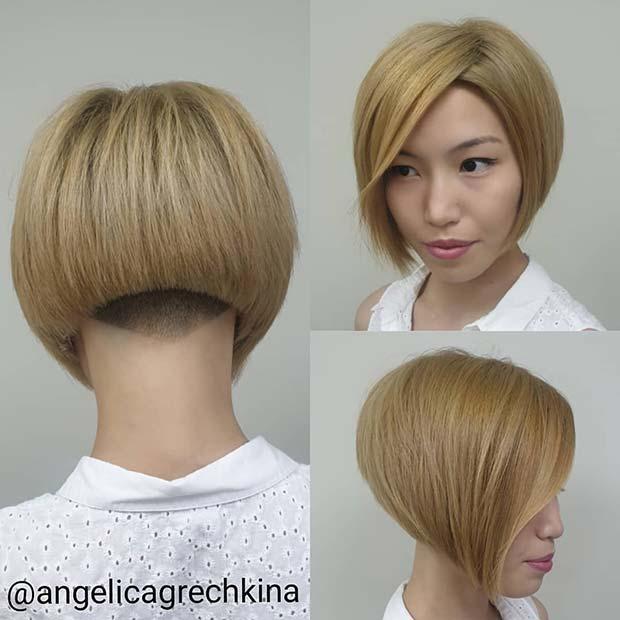 Trendy Blonde Bob