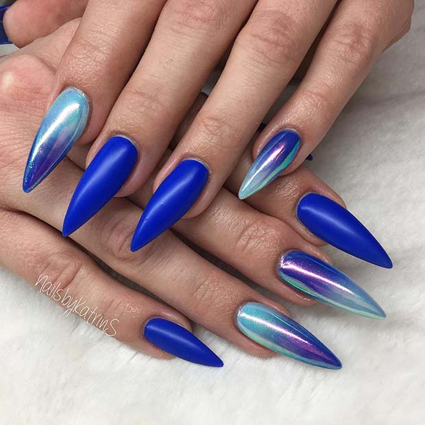 Trendy Chrome Ombre Nails