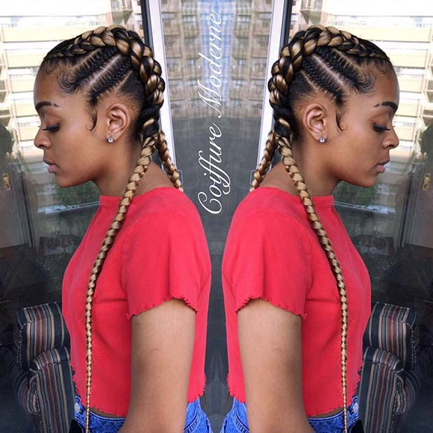 Trendy Braided Hairstyle