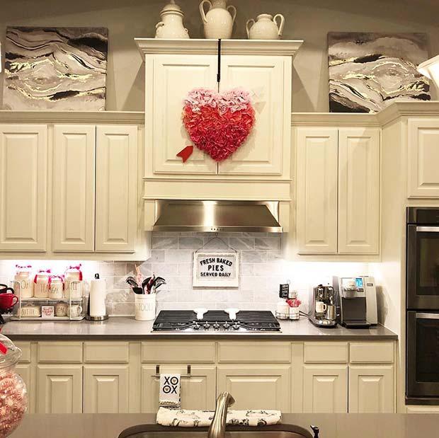Valentine's Day Kitchen Decor