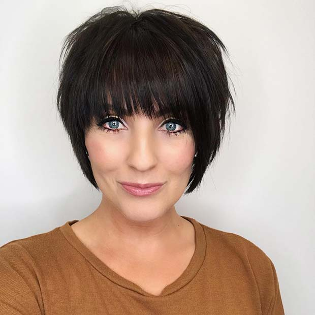 Very Short Cut with Bangs