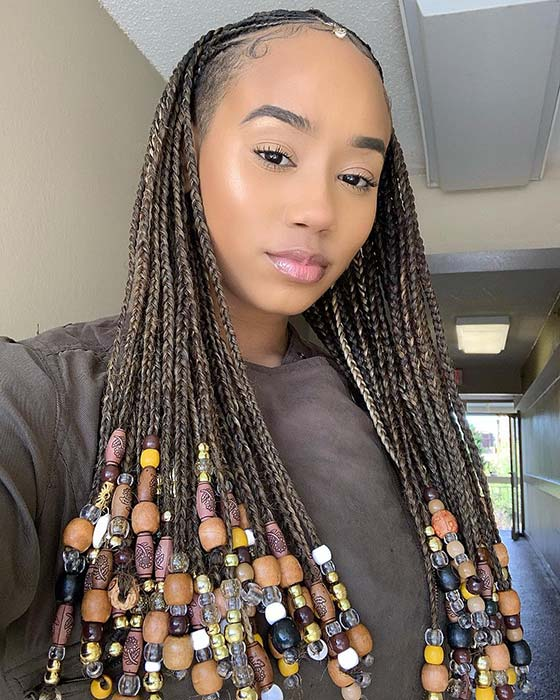 Braids with Lots of Different Beads