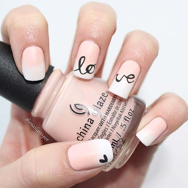 Cute Love Nail Design