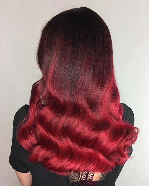Dark Ruby Red Hair Idea