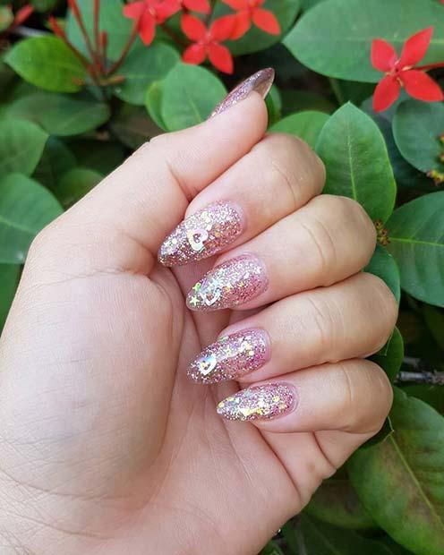 Glittery Jelly Nails