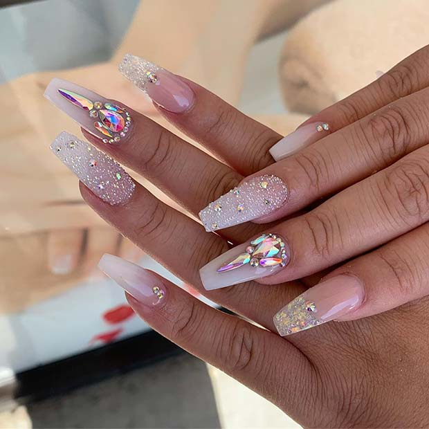 Glitzy Wedding Nails
