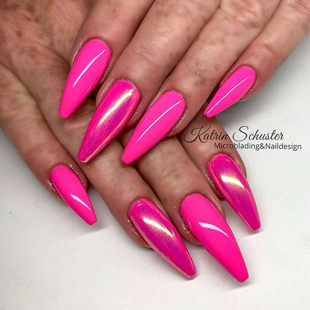 Glossy and Chrome Nail Art