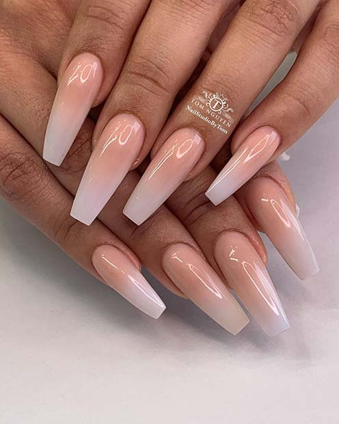 Glossy and Glam Wedding Nails
