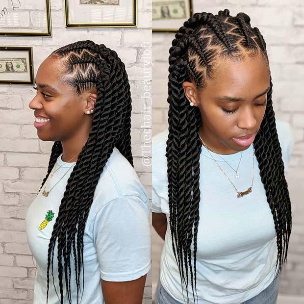 Gorgeous Zig Zag Twist Braids