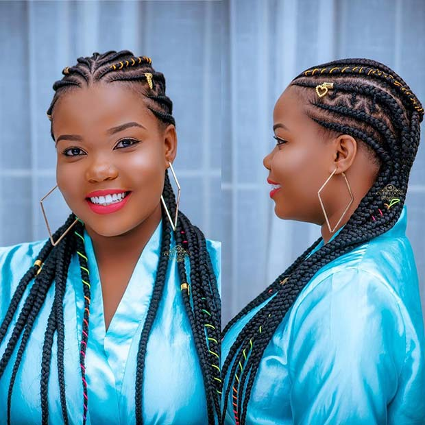 Long Braids with Cords