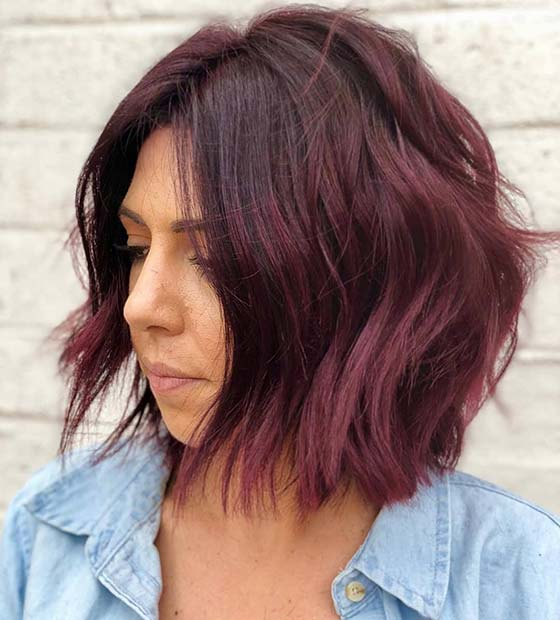 Merlot Bob Hairstyle Idea