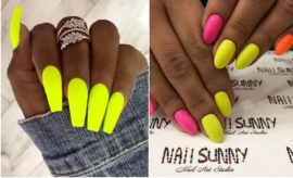 Neon Yellow Nails