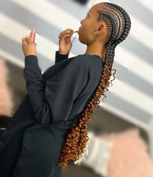 21 Bohemian Feed In Braids You Must See Stayglam