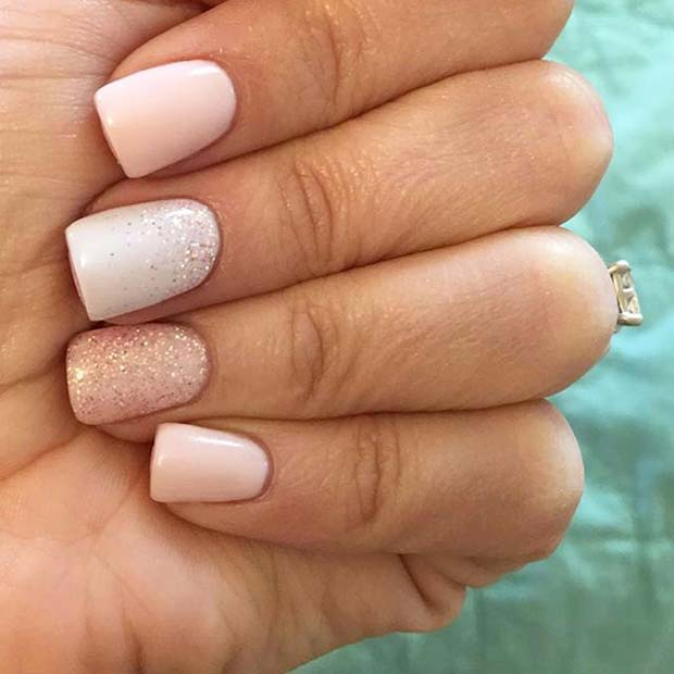 Short Wedding Mani