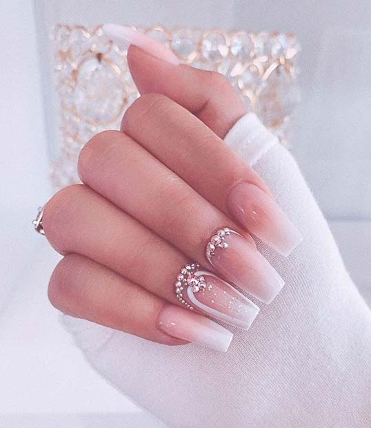 Stunning Nails for a Bride