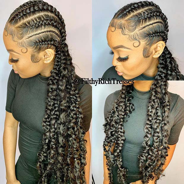 Stylish Braids with Hair Rings