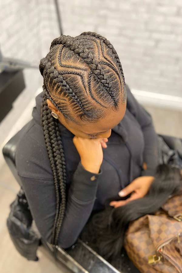 Stilvolle Cornrow Braids