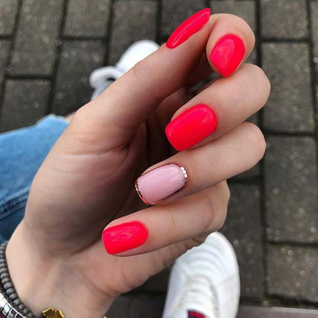 Trendy Pink Mani for Short Nails