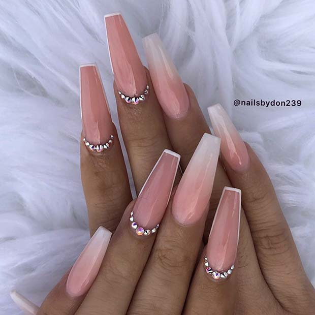 Elegant Coffin Nail Design