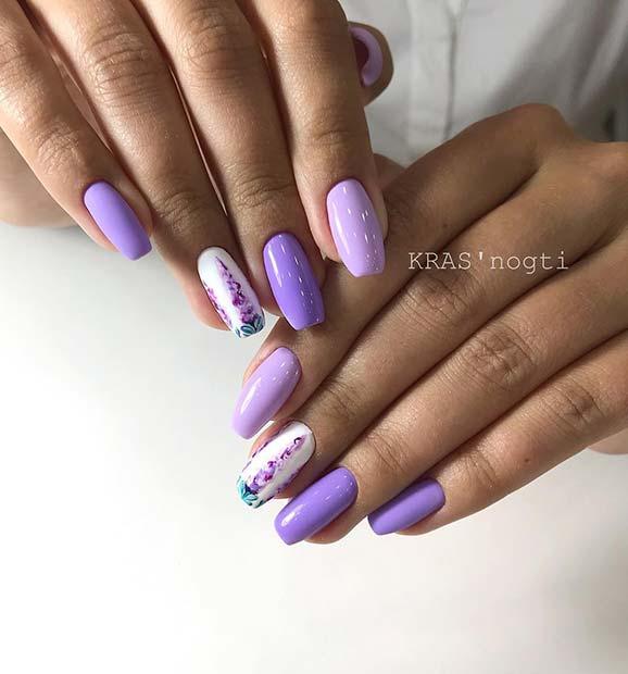 Unique Lavender Mani
